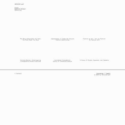 Fashion Essays | ARCHIVE.pdf