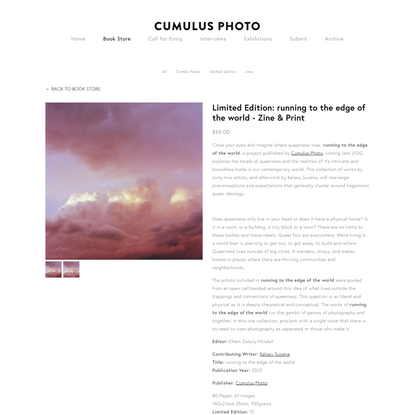 Limited Edition: running to the edge of the world - Zine & Print — Cumulus Photo