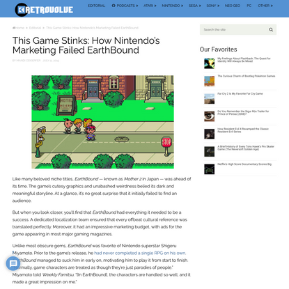 This Game Stinks: How Nintendo's Marketing Failed EarthBound – Retrovolve