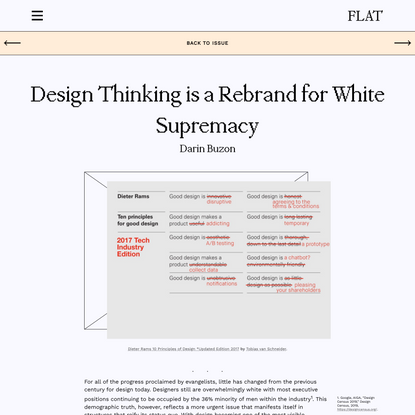 Design Thinking is a Rebrand for White Supremacy - Flat Journal