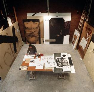 Antoni Tapies's studio