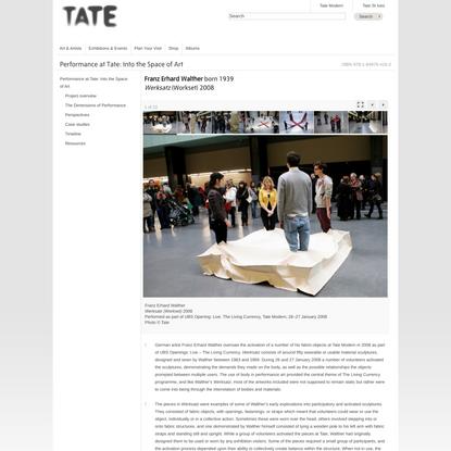 Franz Erhard Walther, Werksatz (Workset) 2008 | Tate