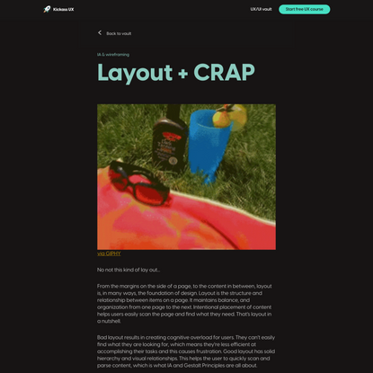 Layout + CRAP - UX/UI vault