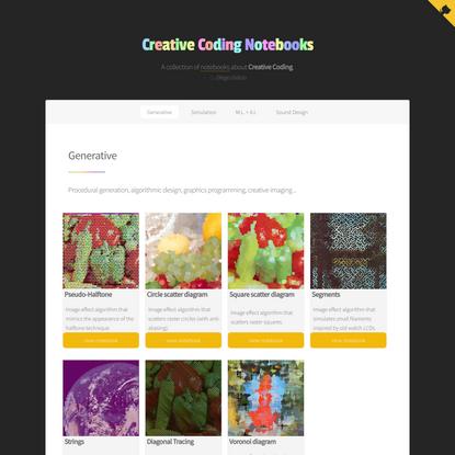 Creative Coding Notebooks | Diego Inácio