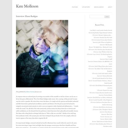 Interview: Eliane Radigue