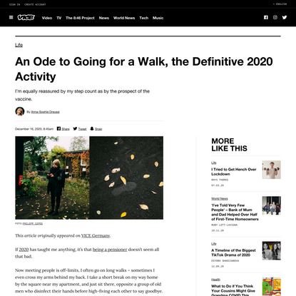 Walking and the Pandemic: The Activity of 2020