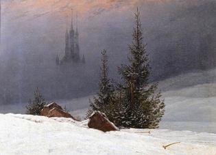 Casper David Friedrich, Winter Landscape with a Church, 1811