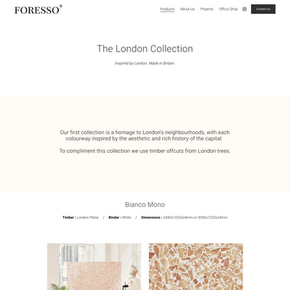 The London Collection — Foresso