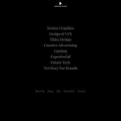 Homepage - Territory Studio