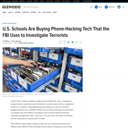 U.S. Schools Are Buying Phone-Hacking Tech That the FBI Uses to Investigate Terrorists