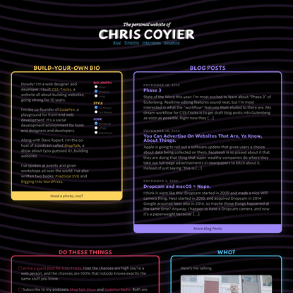 Homepage - Chris Coyier