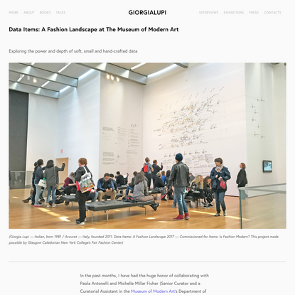 Data Items: A Fashion Landscape at The Museum of Modern Art — giorgialupi