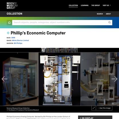 Phillip's Economic Computer | Science Museum Group Collection