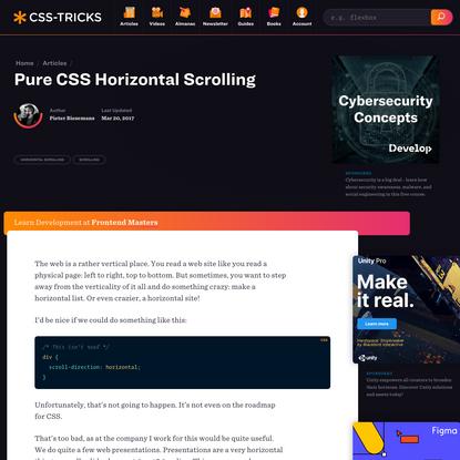Pure CSS Horizontal Scrolling   CSS-Tricks