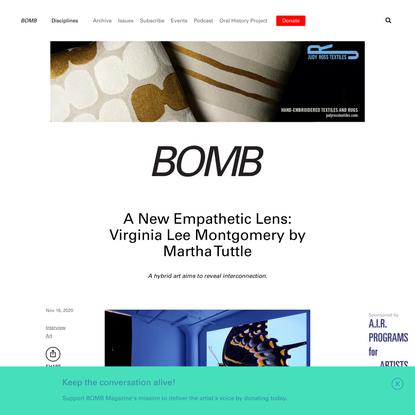 A New Empathetic Lens: Virginia Lee Montgomery by Martha Tuttle - BOMB Magazine