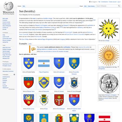 Sun (heraldry) - Wikipedia