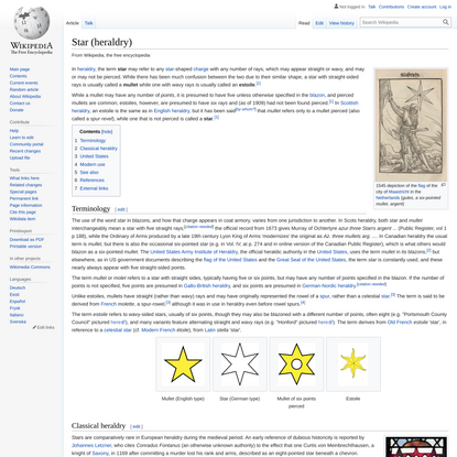 Star (heraldry) - Wikipedia