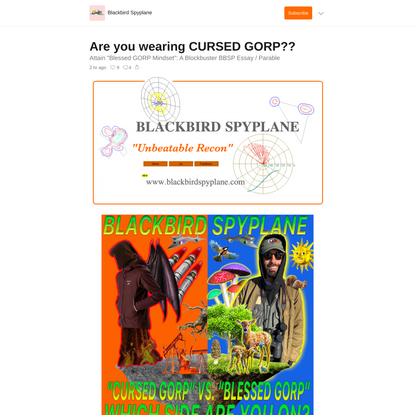 Are you wearing CURSED GORP??