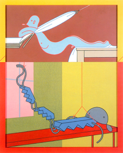 Barbara Rossi, Crucifixions by a Thread, 1983