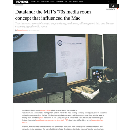 Dataland: the MIT's '70s media room concept that influenced the Mac