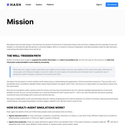 Mission - HASH