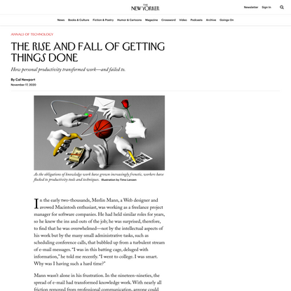 The Rise and Fall of Getting Things Done | The New Yorker