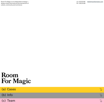 Room For Magic