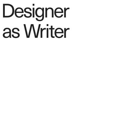Designer as Writer — Page 1