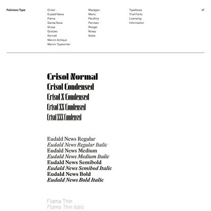 Typefaces – Feliciano Type