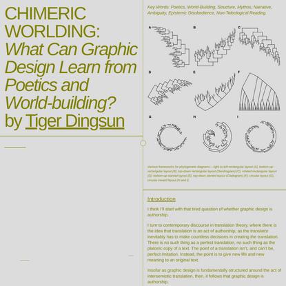 Chimeric Worlding