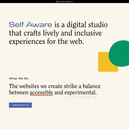 Self Aware — Creative Studio