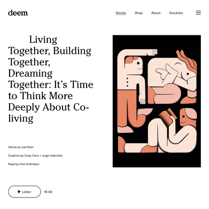 Living Together, Building Together, Dreaming Together — Deem