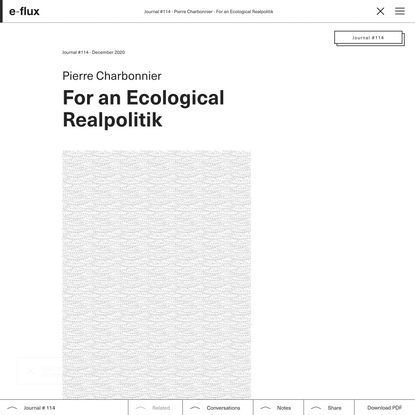 For an Ecological Realpolitik