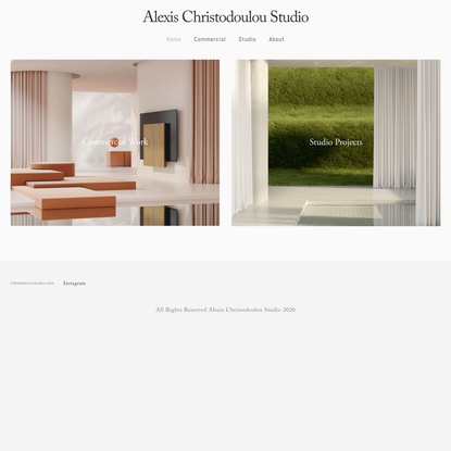 Landing Page — Alexis Christodoulou Studio