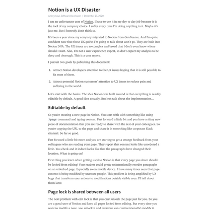 Notion is a UX Disaster – Telegraph