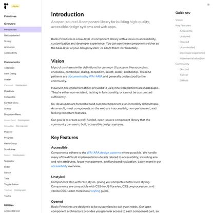 Introduction — Radix UI