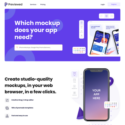 Previewed - Free Mockup Generator for your app