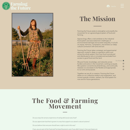 The Mission   Farming The Future