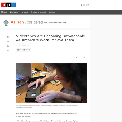 VHS Tapes: How Archivists Are Working To Save Them : All Tech Considered : NPR