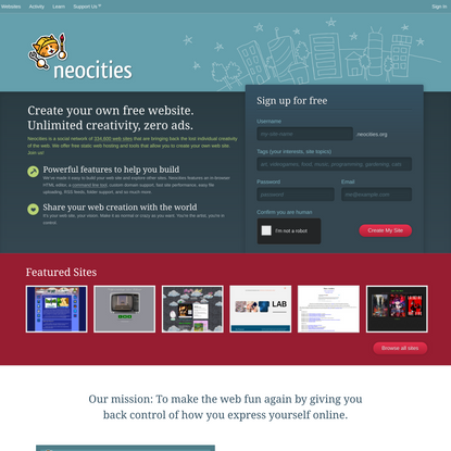 Neocities: Create your own free website!