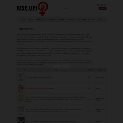 Publications – Rise Up! Feminist Digital Archive