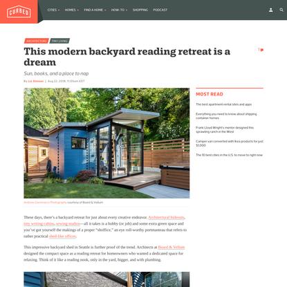 This modern backyard reading retreat is a dream