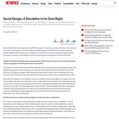 Social Design: A Discipline In Its Own Right - Metropolis
