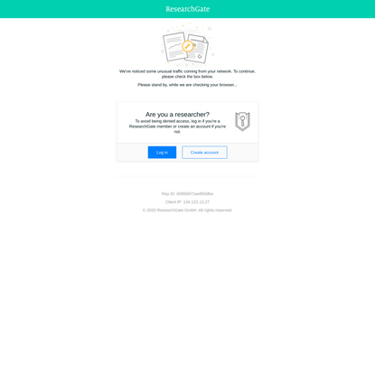 ResearchGate - Temporarily Unavailable
