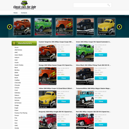 Classic cars for sale. Old, rare, muscle cars, street rods auctions