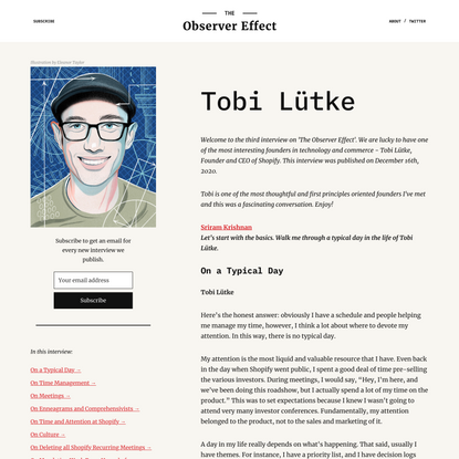 The Observer Effect –Tobi Lütke