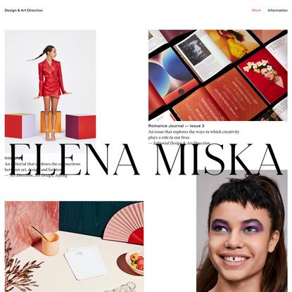 Elena MiskaElena Miska - Graphic Design & Art Direction