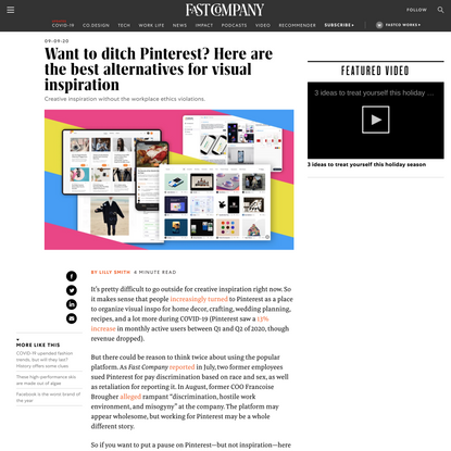 Want to ditch Pinterest? Here are the best alternatives for visual inspiration
