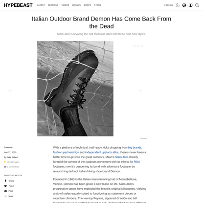 Italian Outdoor Brand Demon Has Come Back From the Dead