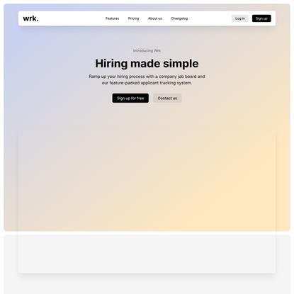 Hiring made simple